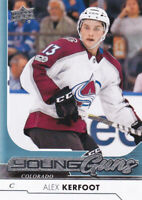17/18 UD..ALEX KERFOOT..YOUNG GUNS..# 209..AVALANCHE..FREE COMBINED SHIPPING