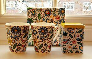 FOLK Gift Set: 2 Mugs+Napkins+Can / Zestaw Na Prezent: 2 Kubki+Serwetki+Puszka