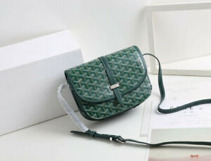 GOYARD Goyardine Belvedere II 2 PM Messenger Bag Green Brand crossbody