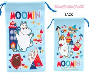 Moomin Valley Cleaning iPhone7 Plus Sunglasses Bag Makeup Pencil Drawstring Case