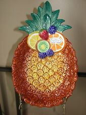 Fitz And Floyd Caricoa Small Pineapple Serving Dish
