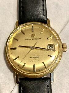 18ct Gold Girard Perregaux Mens Wrist Watch
