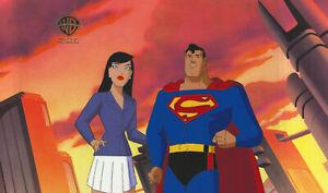 WB-Superman Animated Series Original Cel-Superman+Lois Lane-Prototype