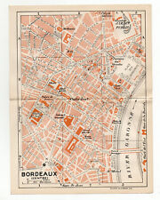 Map Of Bordeaux Southern France 1926