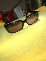 FENDI FS5193R 200 Sunglasses Black Frame Italy 58-17-135 Dark Brown Crystal