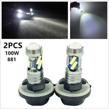 2x 100W LED Fog Driving Light Bulb 881 862 886 889 894 896 898 7500K White Lamp
