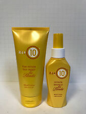 ITS IT'S A 10 LEAVE IN HAIR CONDITIONER & 5 MINUTE REPAIR FOR BLONDES BLONDE