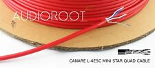 Bulk 10 feet of CANARE L-4E5C RED Miniature Star Quad Microphone Cable