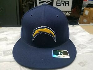 NFL Los Angeles Chargers Team Logo Navy 59Fifty Style Fitted Cap Reebok Hat