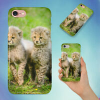 CHEETAH SITTING TOGETHER HARD BACK CASE FOR APPLE IPHONE PHONE
