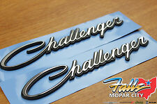 2009-2018 Dodge Challenger Fender Nameplate Emblem Badge Set of 2 Mopar OEM