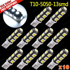 10X 6000K Super White T10 LED Interior 5050 13 SMD Light Bulbs 156LM