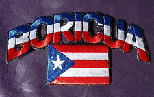 Puerto Rico Boricua Flag Patch Puerto Rican Embroidered Sew/ Iron On