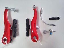 875RJ Coppia Freni V-Brake Alhonga Allum. Rosso per bici 20-24-26 MTB Mountain B