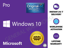 Genuine Windows 10 PRO / Professional 32 & 64 bit OEM Licence Activation Key