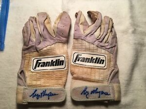 Greg Myers Signed Game Used Batting Gloves Minnesota Twins 90's MLB