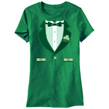 St Patrick's Day Irish Tuxedo Womans Fitted T Shirt