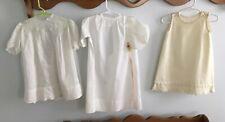 Antique Children Doll Clothes And Bonnet