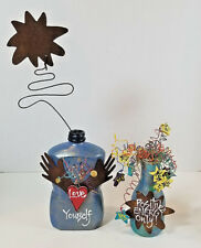Decorative Bottles with Inspiration Quotes Up-cycled Artisan Made Eco Art