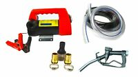 12V DC Portable Diesel Extract Electric Transfer Pump Dispensing Fuel Hose Kit
