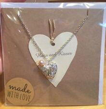 Handmade Heart Locket Costume Necklaces & Pendants