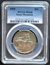 1925 Stone Mountain  50 C , PCGS  MS 66, nice silver coin   # 3A-2, # 654