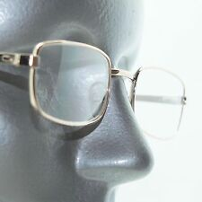 Basic Gold Metal Wire Reading Glasses Squared Oval Frame +1.00 Lens