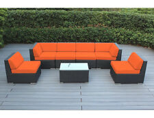 Ohana Outdoor Patio  Sectional Sofa Furniture 7pcs Set - SB Orange