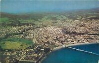 Chrome Postcard CA F646 Air View Santa Cruz Monterey Bay Birds Eye View