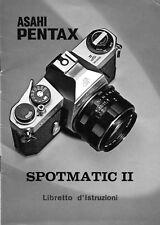 Pentax Spotamtic II manuale in italiano in pdf su cd