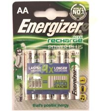 4 x AA Energizer Rechargeable 2000 mAh NI-MH Batteries 2000mAh HIGH CAPACITY