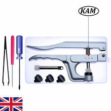 KAM Snaps Pliers Set for Plastic Poppers Fasteners Press Studs Punching Tool Kit