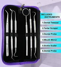 Dental Floss Care Teeth Whitening Tartar plaque Remover Tooth Scraper Mirror PW