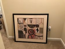 """Adolph Gottlieb Large Pictograph SEER Lithograph Print Framed 32"""" x 36"""""""