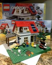 Lego 5771 Hillside House Set Creator Model 100% Complete W/ Box And Instuctions