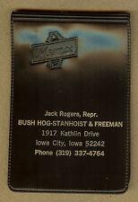 Vintage Jack Rogers Bush Hog-Stanhoist-Freeman Equipment, Iowa City, IA Notebook
