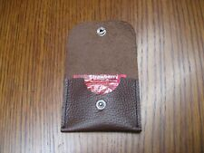 Brown leather condom wallet / pouch