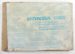 Honda C90 Step Through Owners Care Manual Motorcycle / Scooter