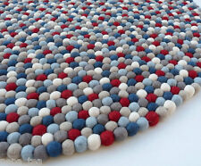 Handmade Round Nursery Playmate Rug  Wool 90-200 cm Felt Ball Freckle Carpet