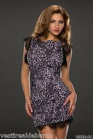 Miniabito Vestito Donna Abito Vestitino KERA STONE 181-C093 Tg S M L