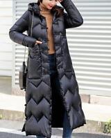 Womens Down Coat Thicken Warm Outwear Overcoat Hood Winter Loose Oversized Muk15