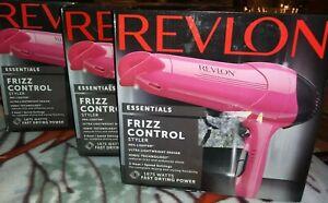 3 Revlon Frizz Control Lightweight Ionic Tourmaline Ceramic Hair Blow Dryer Pink