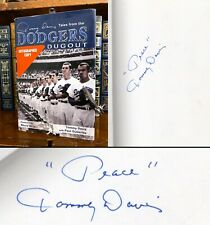 Tales from the Dodgers Dugout HAND SIGNED by Tommy Davis! Los Angeles Dodgers!