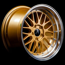 18x10 JNC JNC005 005 5x114.3 25 Gold Machine Lip Wheel New set(4)