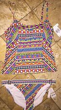 Nwt Trina Turk Resort Peruvian Stripe Tankini TT5FG82 Swimsuit 2pc Set Womens 12
