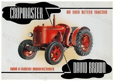 David Brown Cropmaster Tractor Advertising - Poster (A3) - NEW