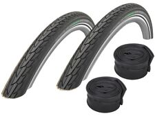 "2 x Schwalbe Road Cruiser Tire (Reflex) 16""-28"" (All Sizes) + Hoses"