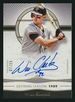 2021 Topps Definitive Defining Season Autograph Auto Will Clark 07/25 SF Giants