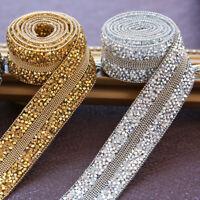 50cm Brillant Strass Bordure Paillettes Ruban Décor DIY Couture Loisirs Créatifs