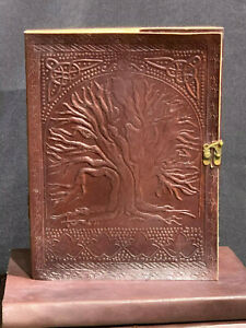 *TREE OF LIFE* Leather Journal, Notebook, Diary, Album. HANDMADE UNIQUE PATTERNS